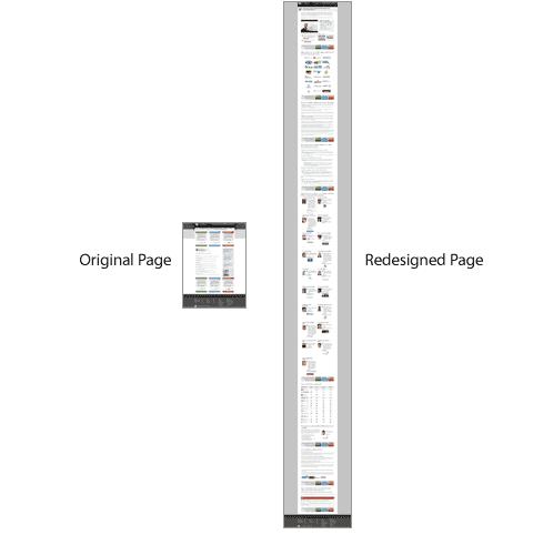 השוואת אורך של דפי נחיתה של MOZ