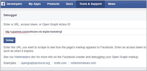 שיווק באמצעות תוכן: לבדוק שהפוסט מוצג כמו שצריך בפייסבוק
