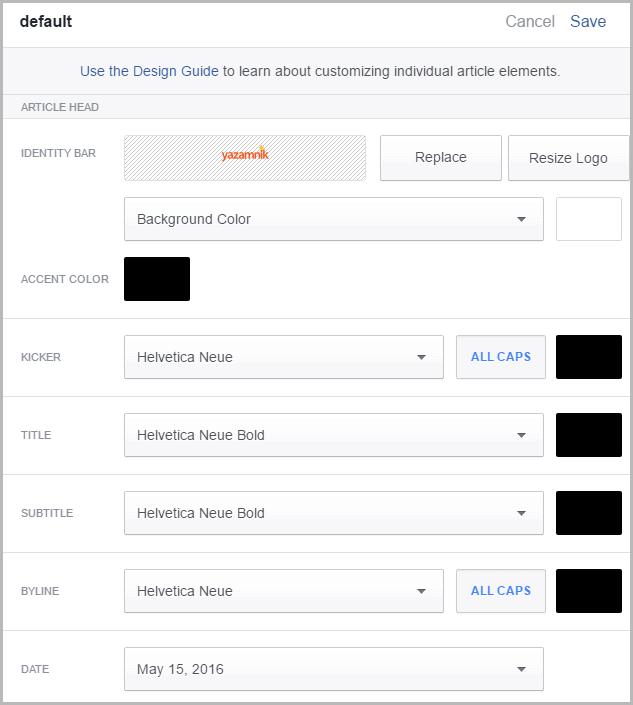 בחירת עיצוב למאמר בפייסבוק 2
